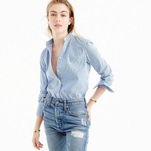 New J. Crew tailored perfect button up bodysuit